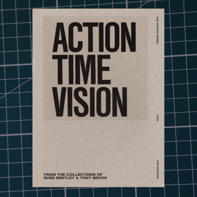 action time vision - Collaboration with London design group Spin and publisher Unit Editions, with contributing essays by Russ Bestley and Malcolm Garrett and interviews with Daniel Miller and Mark Perry, published by Unit Editions, Autumn 2016.