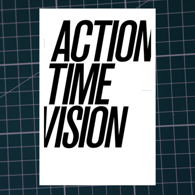 Spin 3: action time vision - Collaboration with London design group Spin, with contributing essays by Russ Bestley and Malcolm Garrett, published Spring 2008.