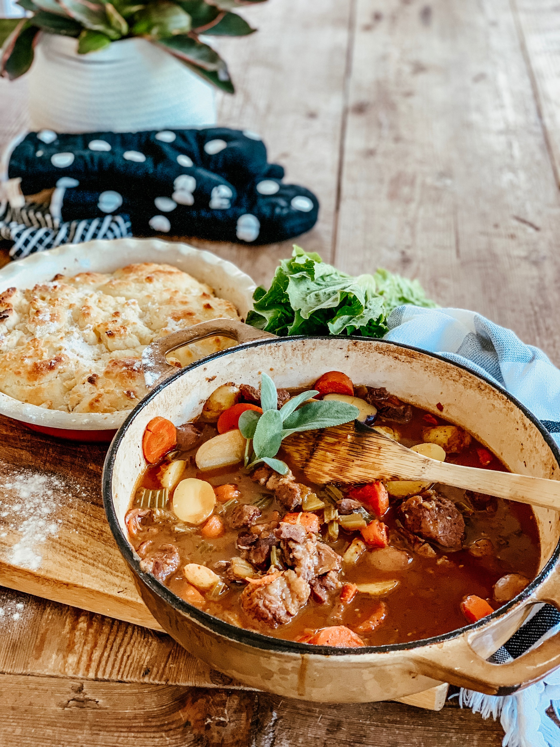 the beauty revival beef stew and biscuits