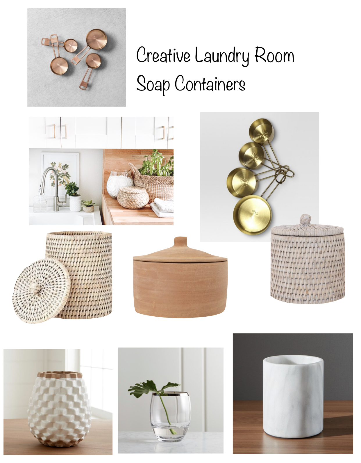 creative laundry room soap containers