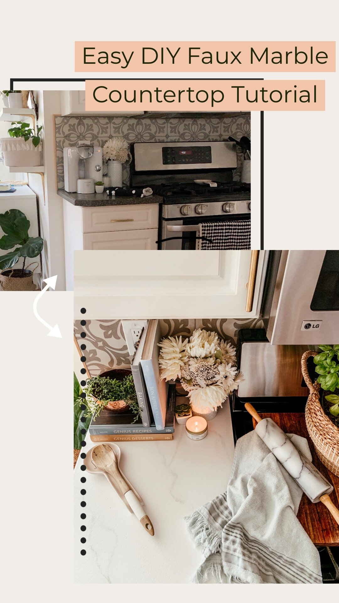 Fauxhow To Diy A Faux Painted Marble Countertop Painted Kitchen Countertop S That Look Like Marble The Beauty Revival