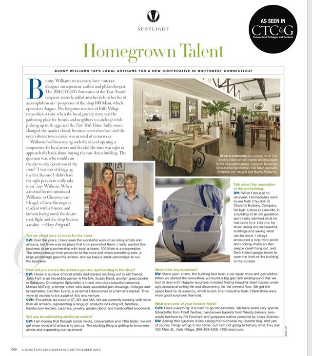 """We are thrilled to be included in CTC&G October Spotlight! Photographs in """"Homegrown Talent"""" are by Anne Day, as seen in CTC&G."""