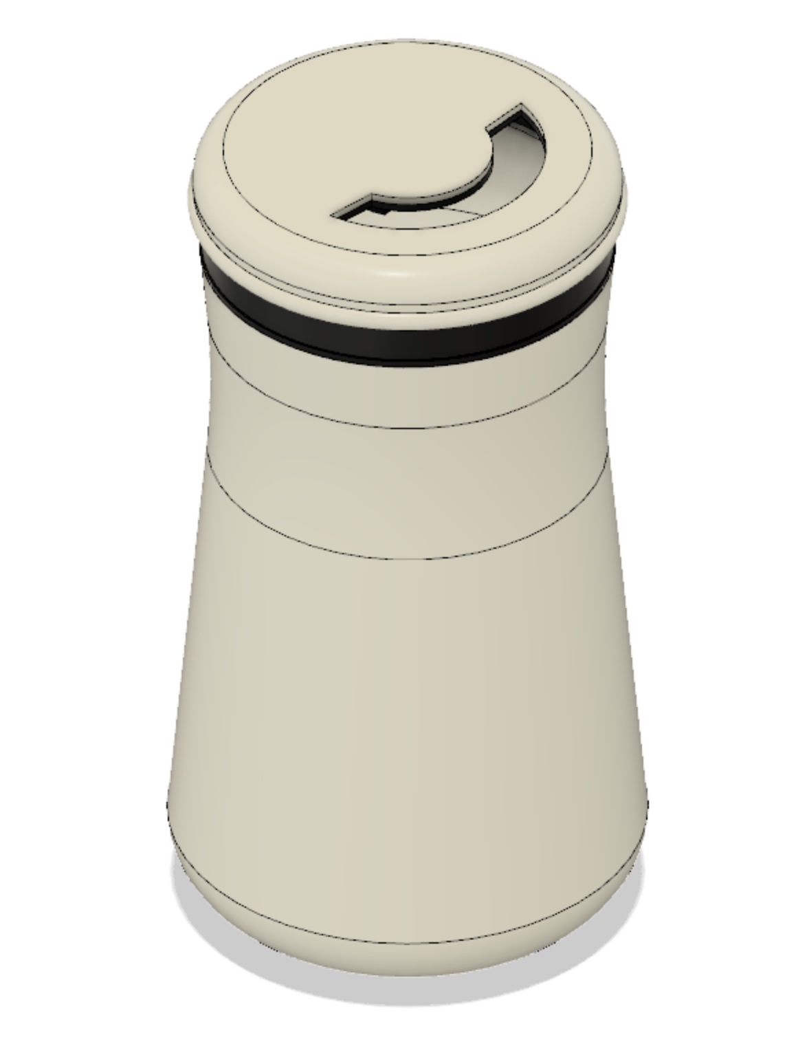 Threaded canister