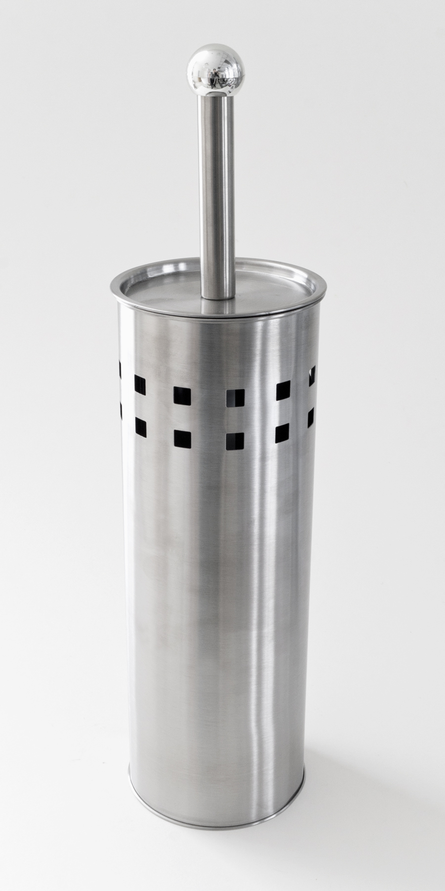 Contemporary metal toilet brush holder