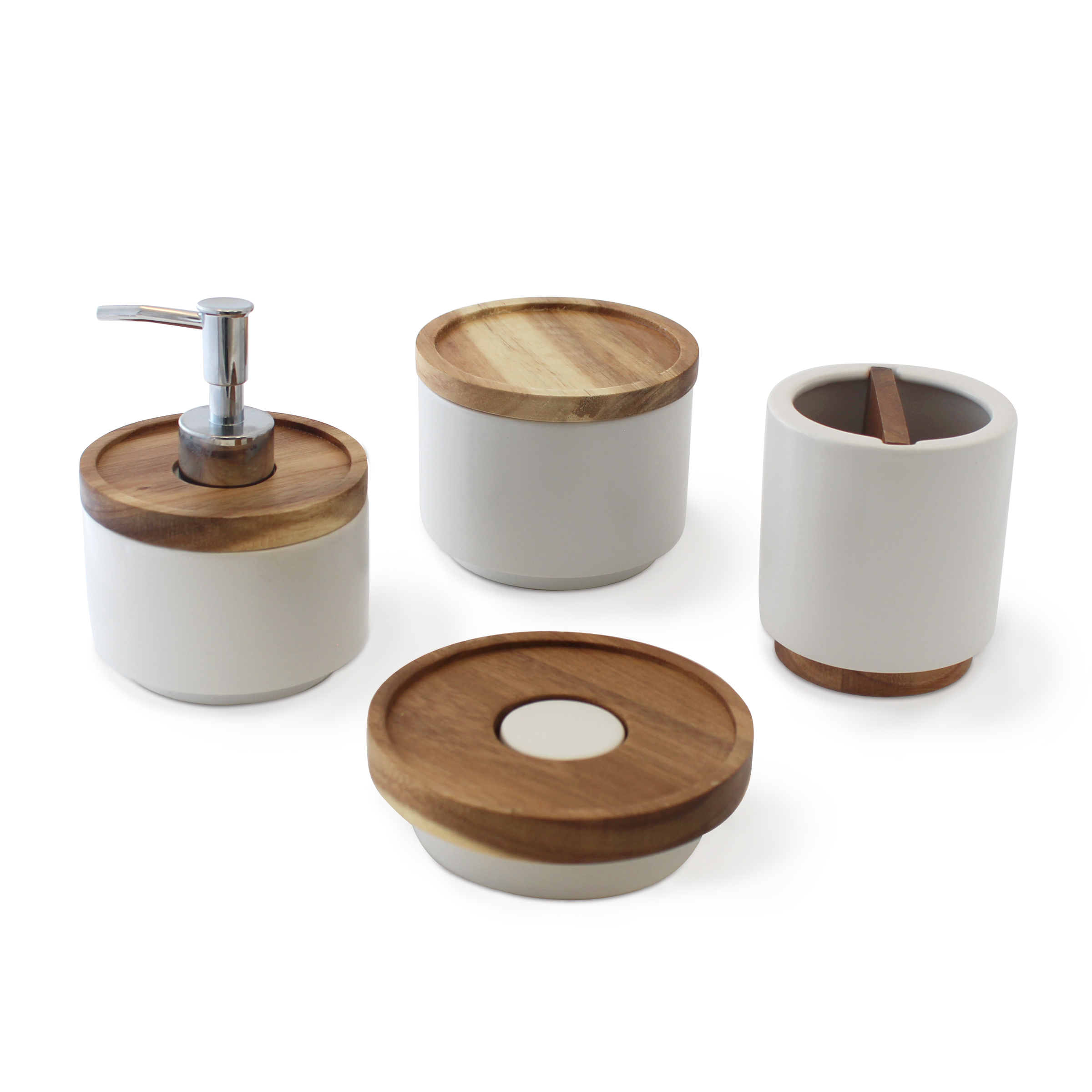 Balito ceramic and wood accessory set