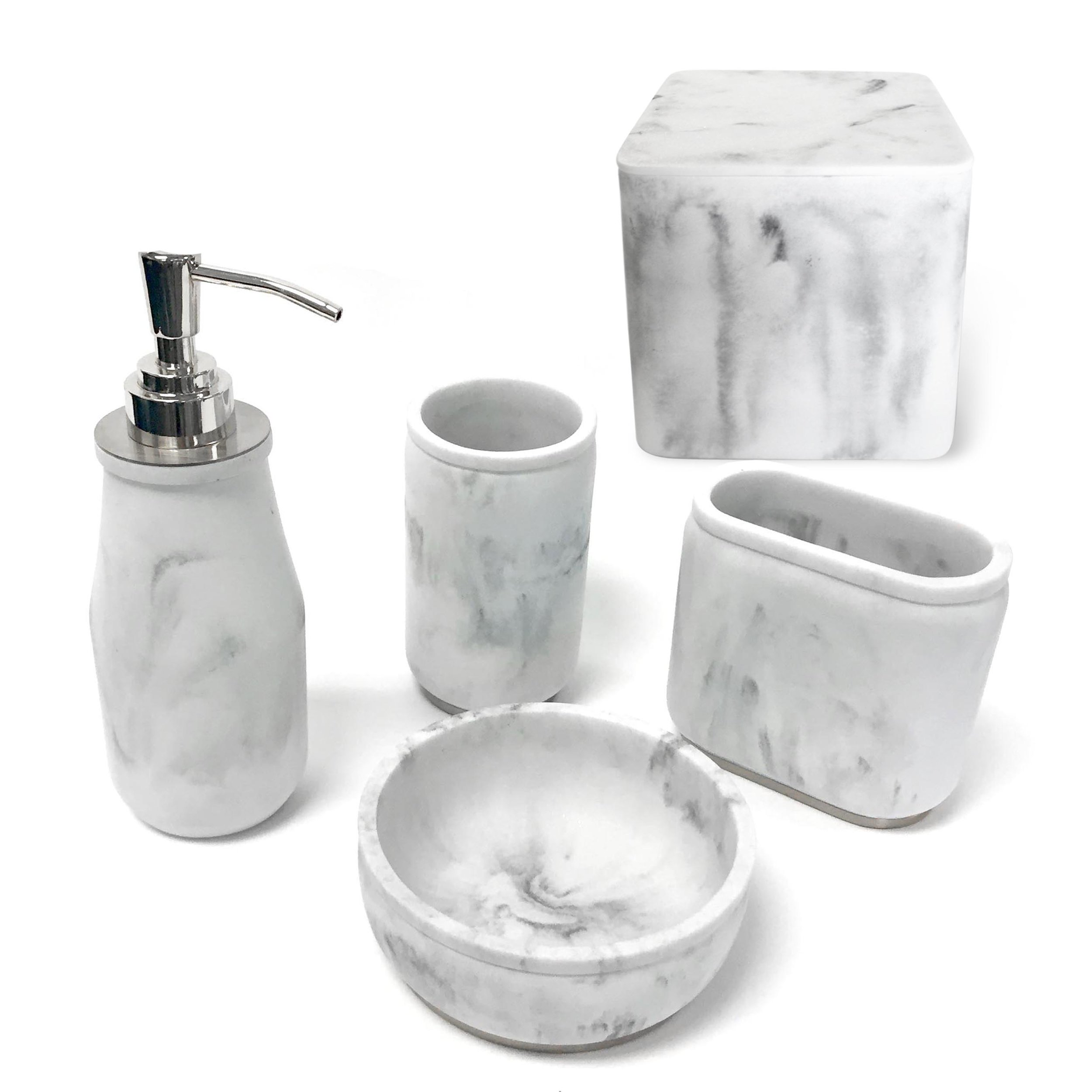 Marble resin accessory set