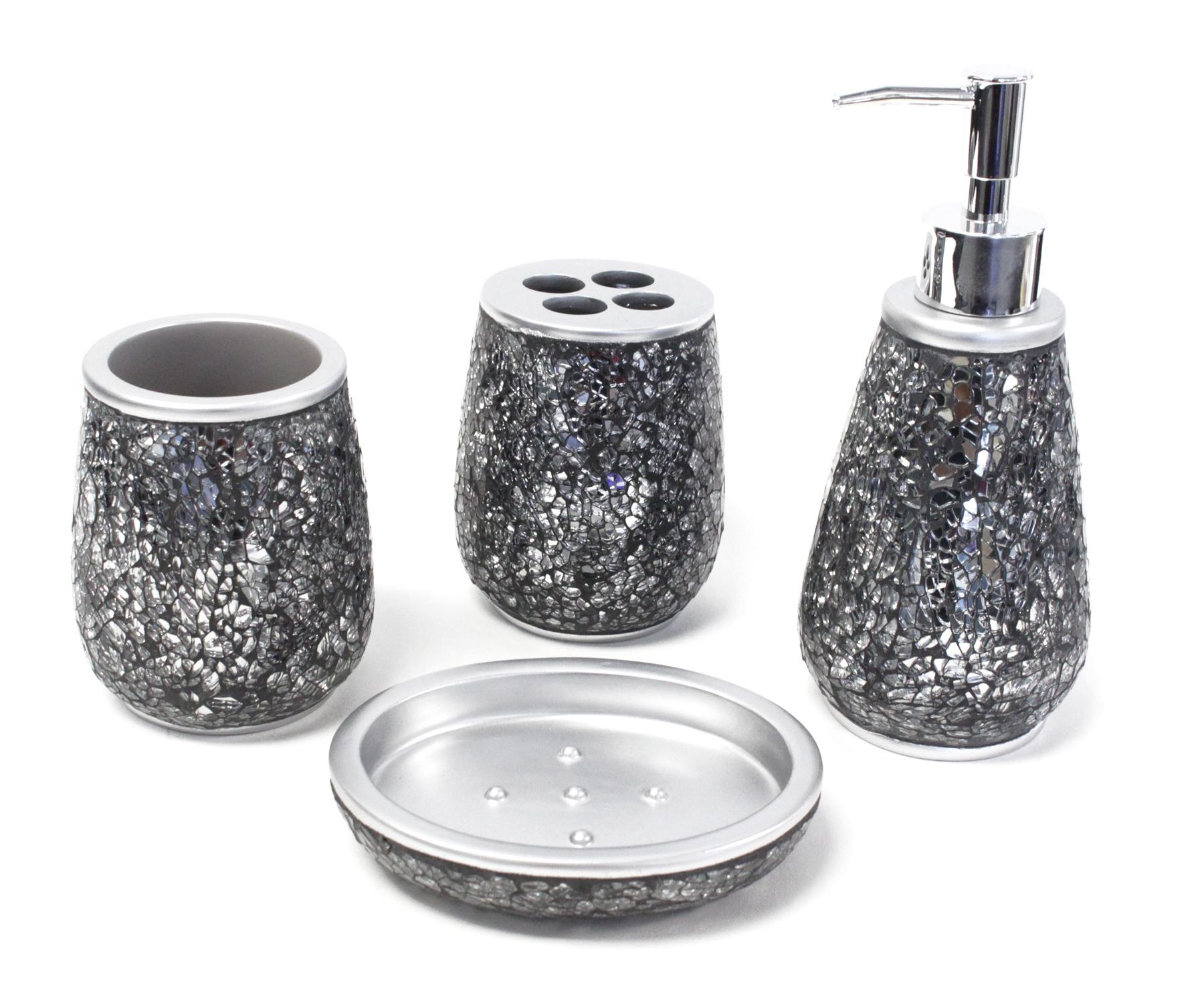 Moonlit ceramic embellished accessory set