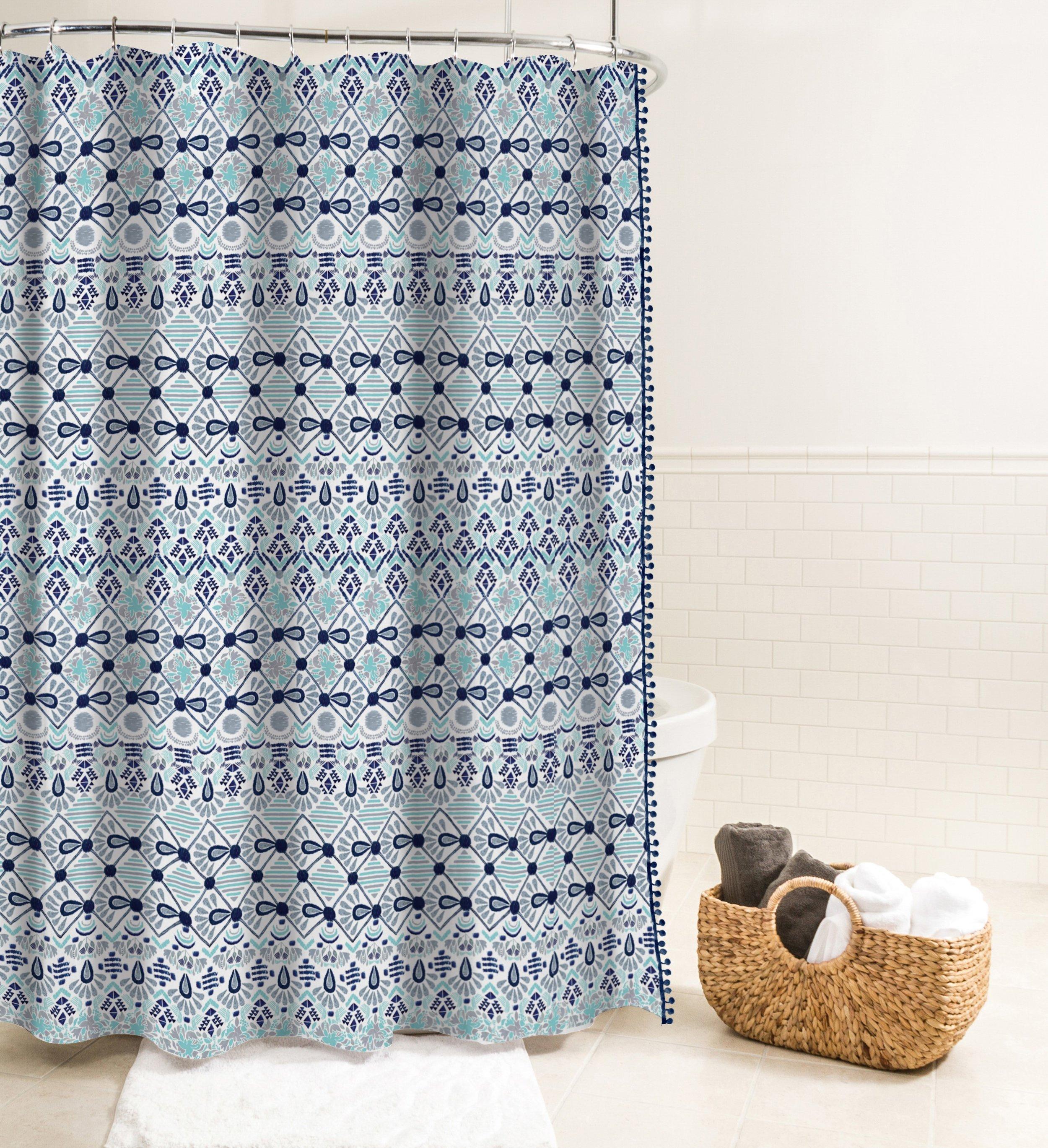 Rideau de douche en tissu Inca