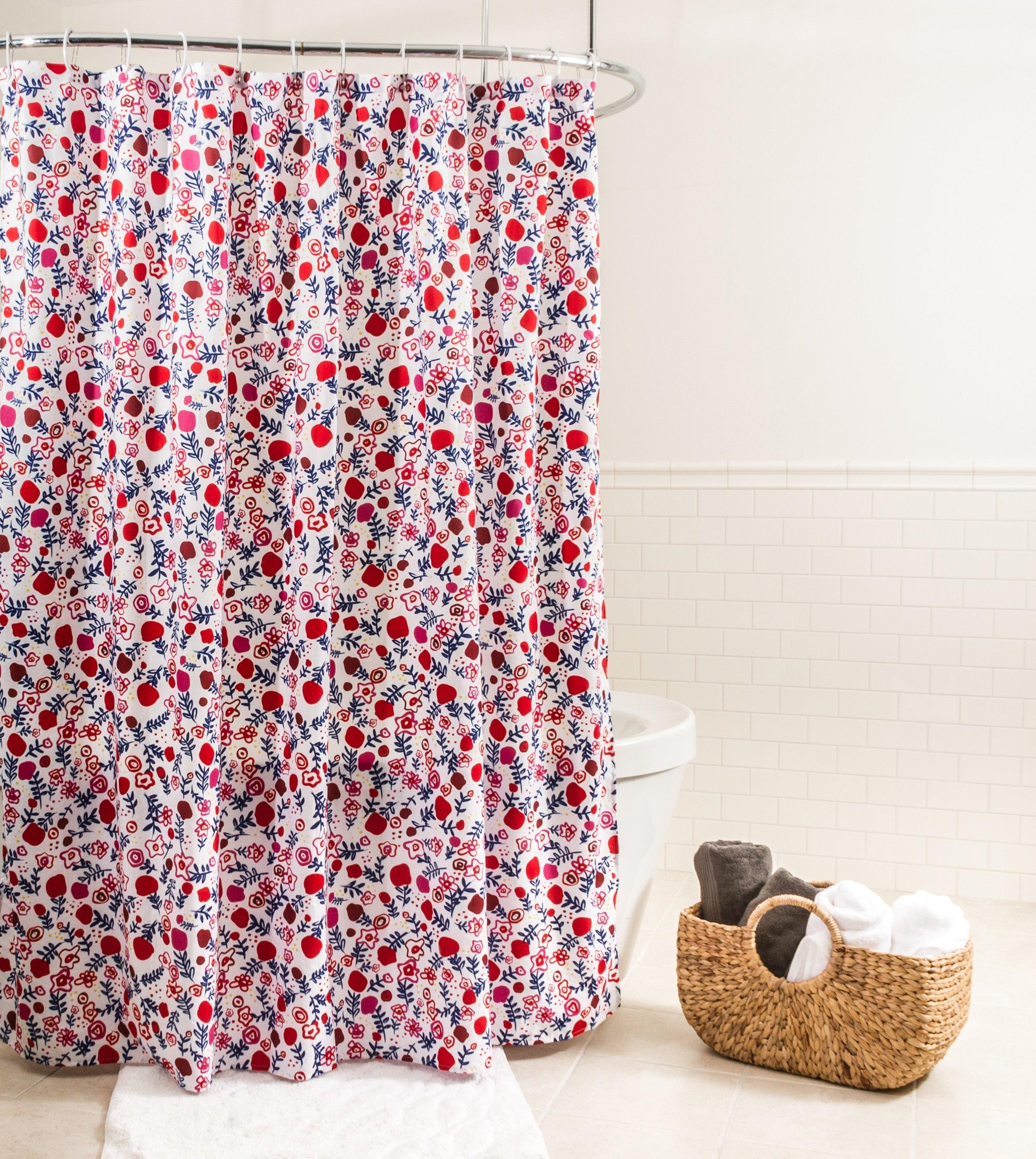 Rideau de douche en tissu Oléa