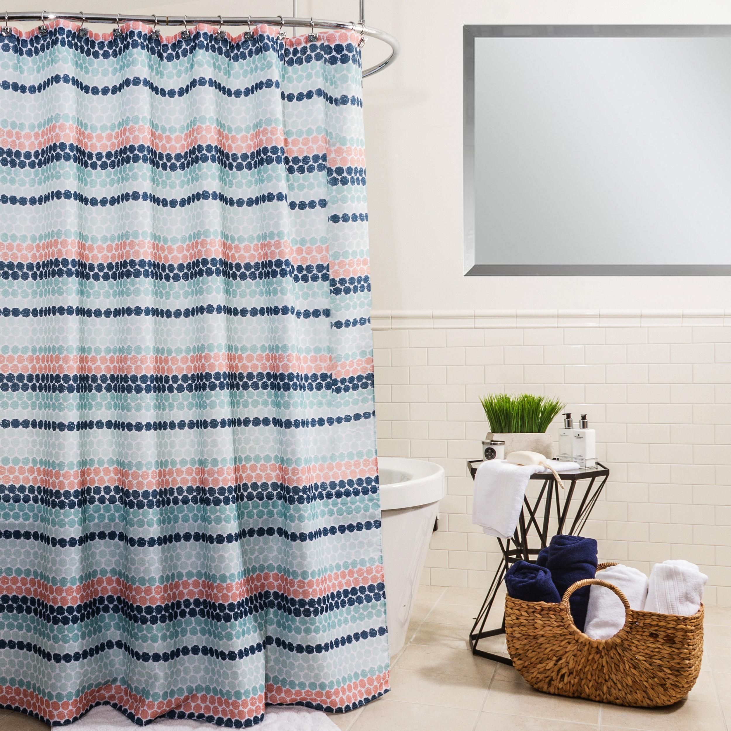 Rideau de douche en tissu Flott