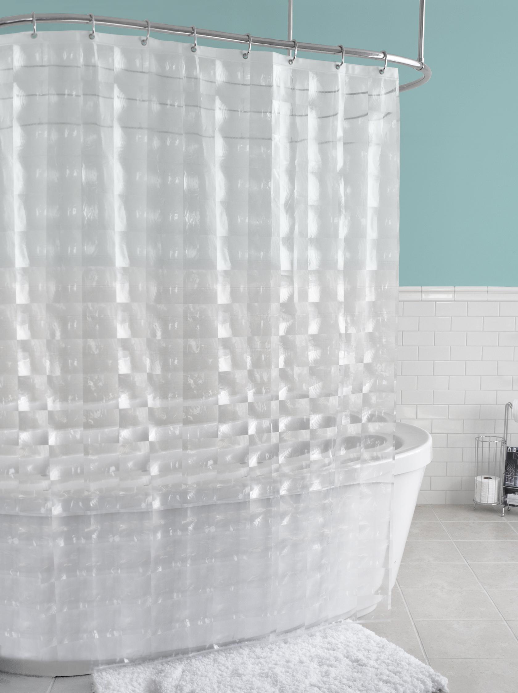Rideau de douche en PEVA texturé Carrele