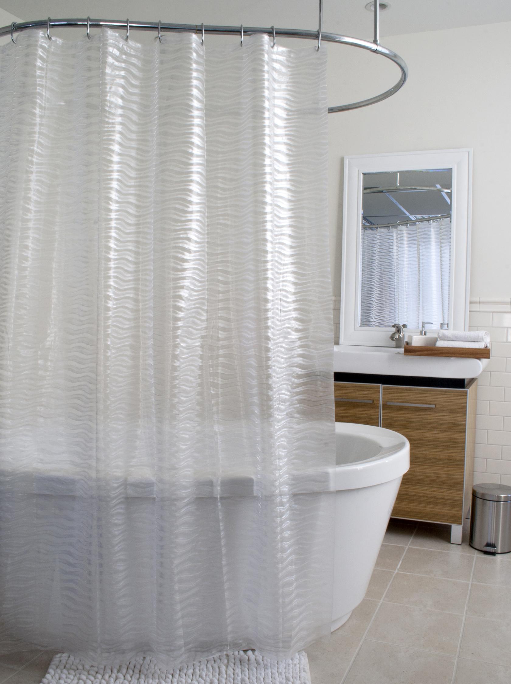 Rideau de douche en PEVA texturé Surf