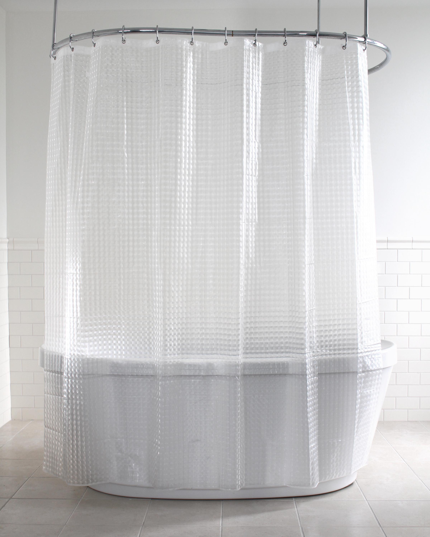 Rideau de douche en PEVA texturé Pitta