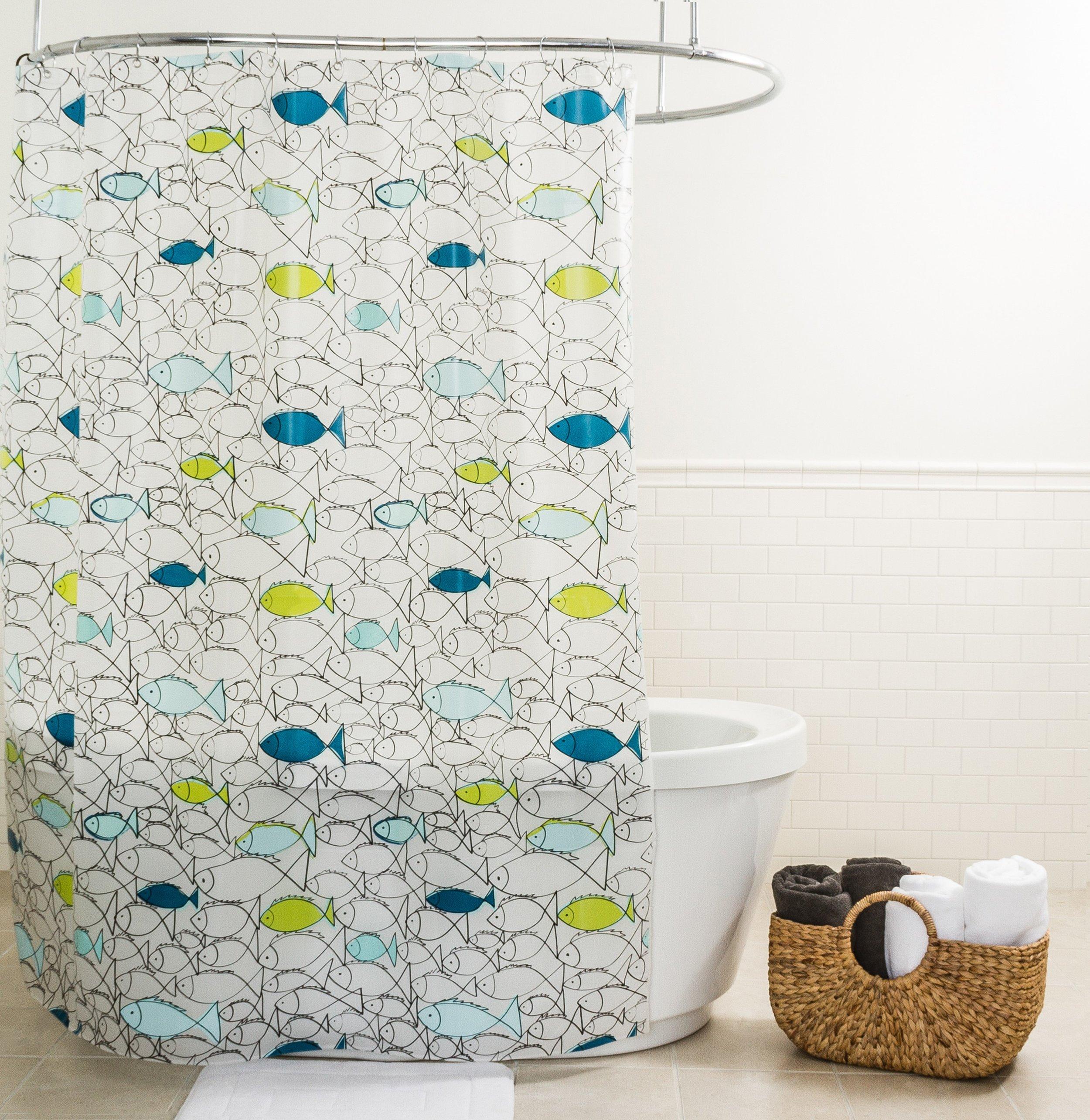 Rideau de douche en PEVA imprimé Fish