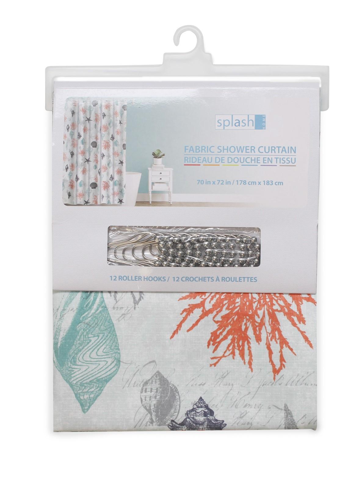 Rideau de douche en tissu combo