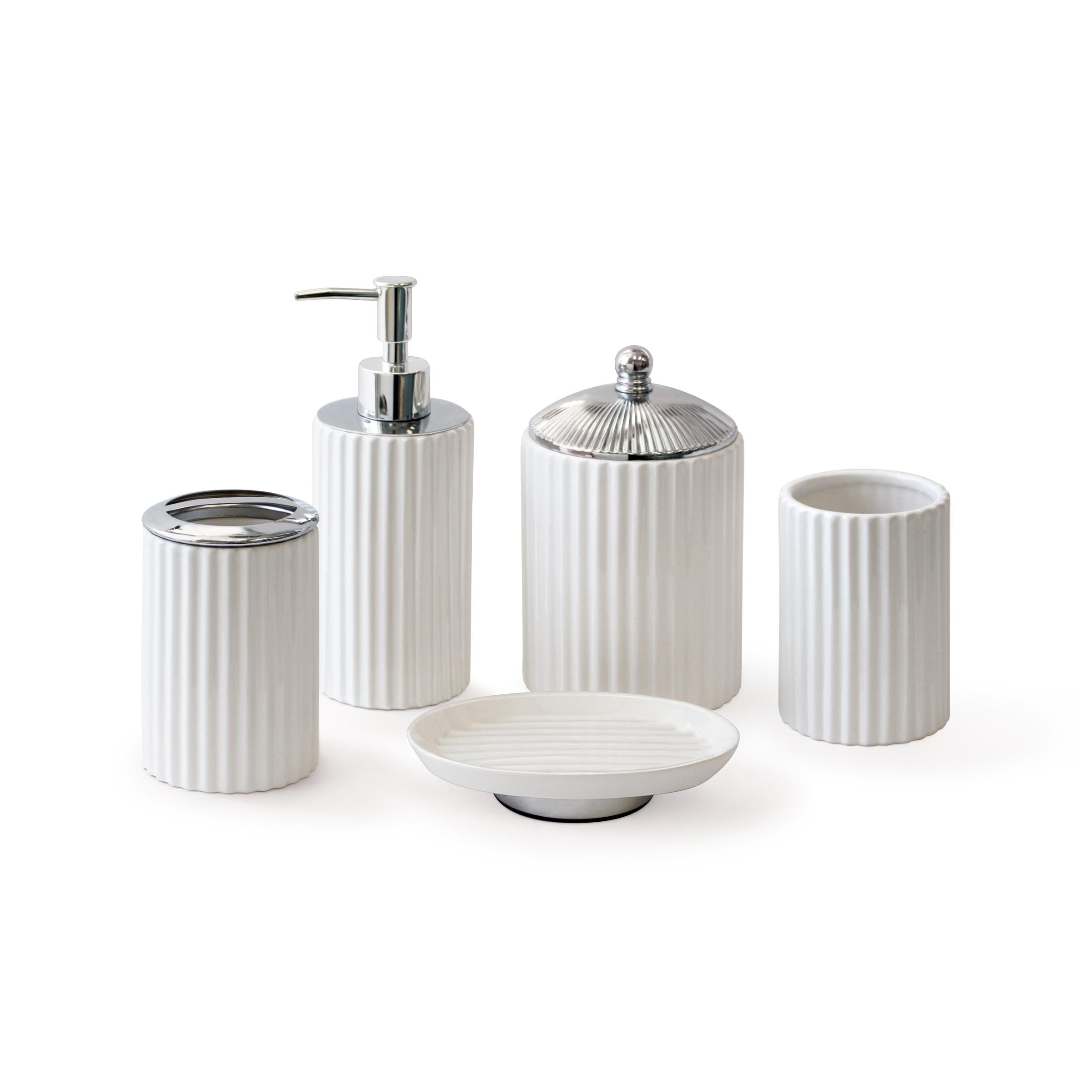 Ensembles d'accessoires - Céramique, marbre, résine et métal. Des ensembles d'accessoires pour faire ressortir votre salle de bain.
