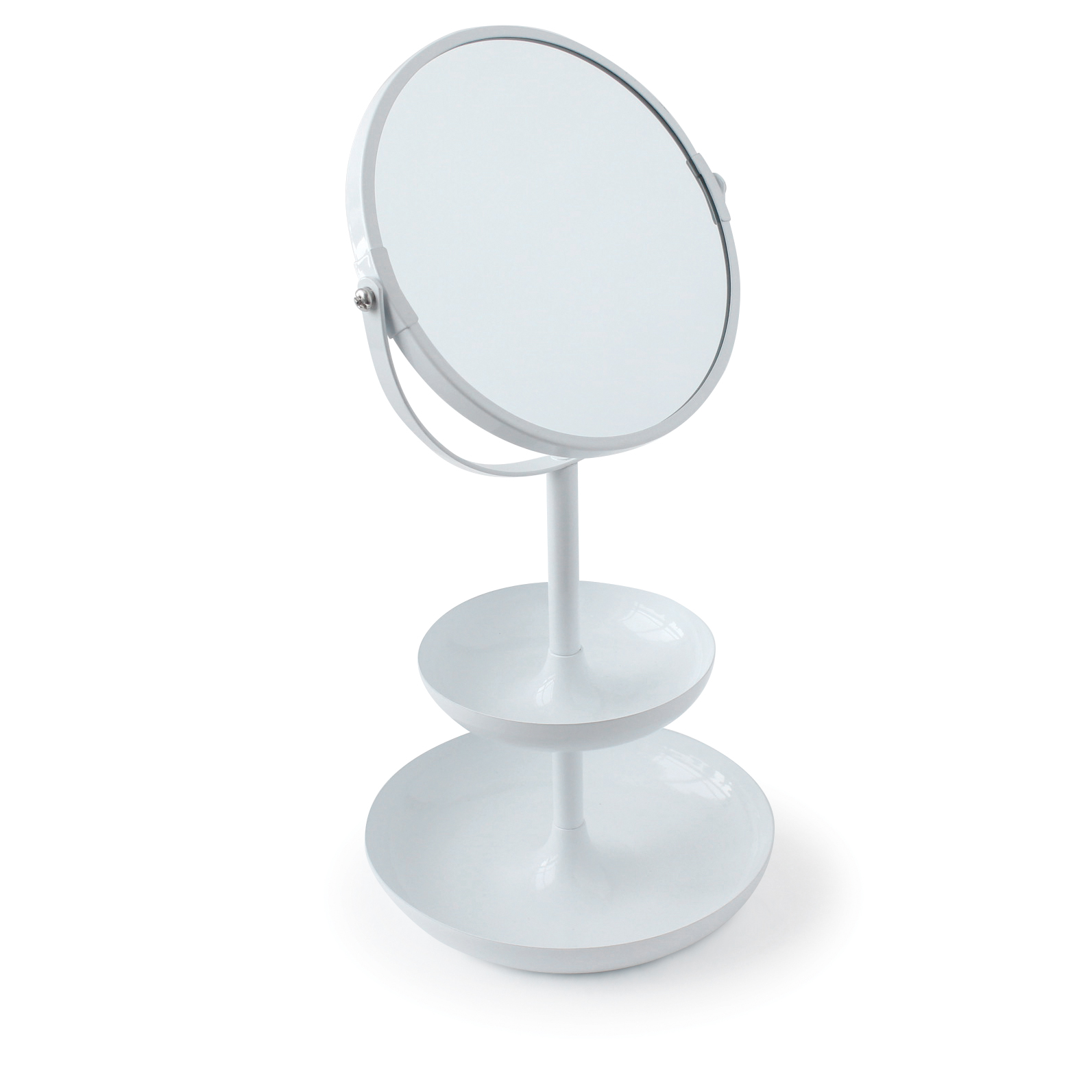 2-tier metal mirror