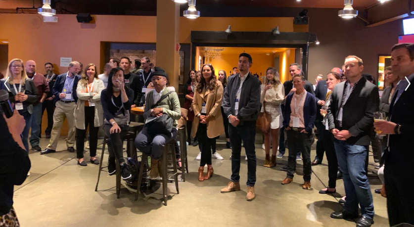 #ImpactCloud Happy Hour guests from dozens of great NGO's in San Francisco Oct 3rd, 2019.