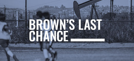 A bold campaign to encourage California's Governor Brown to take bold action on fossil fuel policy in his last year in office.