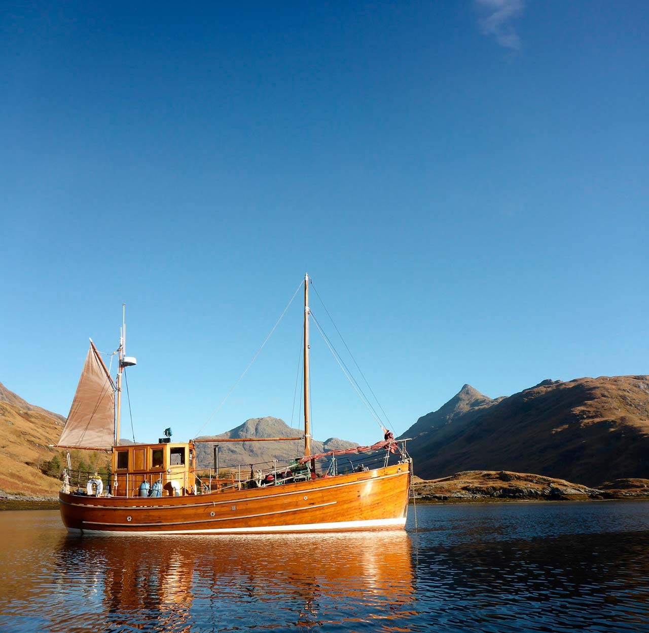 About Sgarbh - The boat has lived in Crinan and been helmed by the same family for 40 years. Sgarbh is now fully licensed for day and night trips, her cruising range (MCA Category 2) covers the entire British isles, including as far offshore as Saint Kilda.More about Sgarbh
