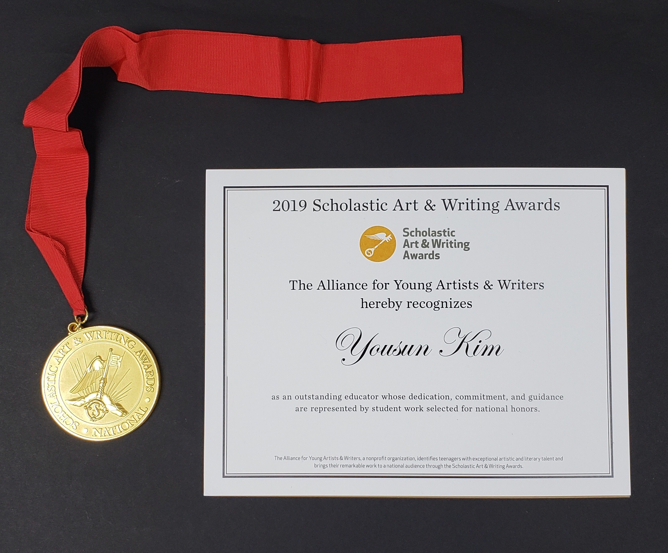 Congratulation! - 2019 Scholastic Art & Writing Gold Medal2018 Scholastic Art & Writing Silver Medal2017 Scholastic Art & Writing Gold MedalAN OUTSTANDING EDUCATOR