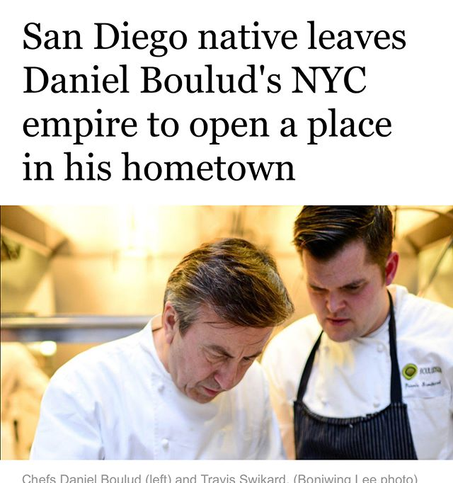 Thank you @sandiegouniontribune for the great story about my time with @danielboulud and my homecoming to #sandiego #california . My sons @sonofachefnyc are already Padre fans and ready for the #padsquad