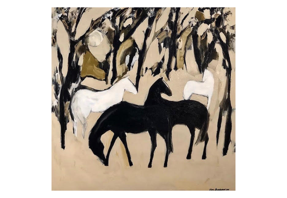 """Forest Horses 48"""" x 48"""""""