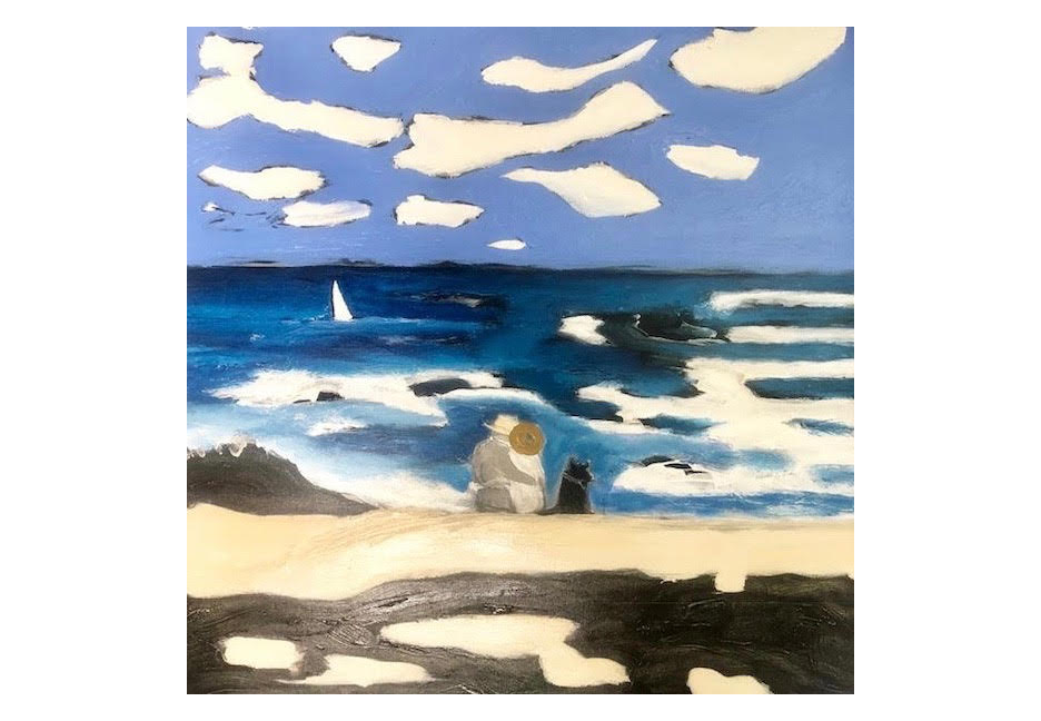 """Windy Day Lovers 40"""" x 40"""""""