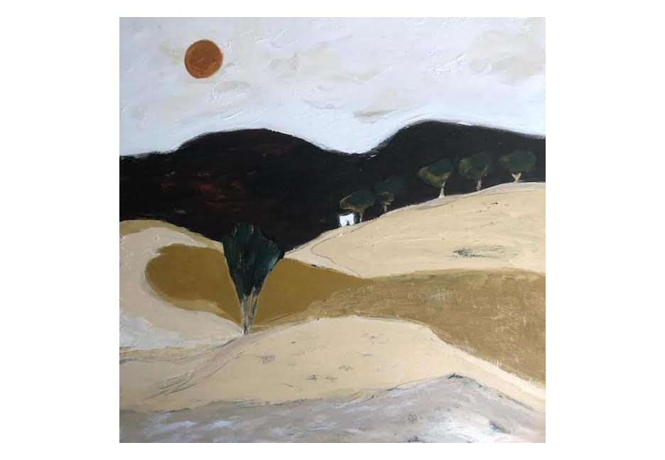 "Earth Landscape 48"" x 48"""