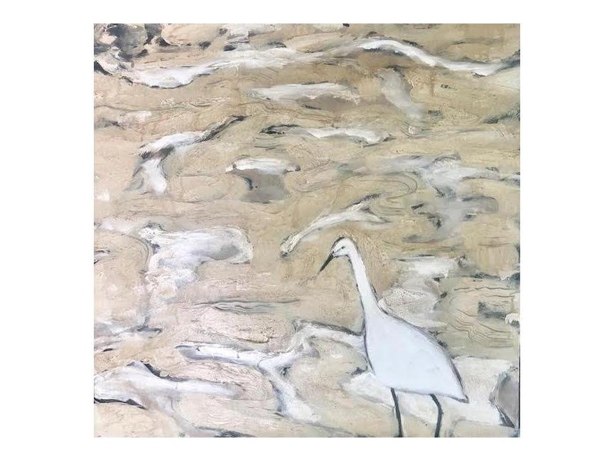 """Colette's Heron 36"""" x 36"""""""