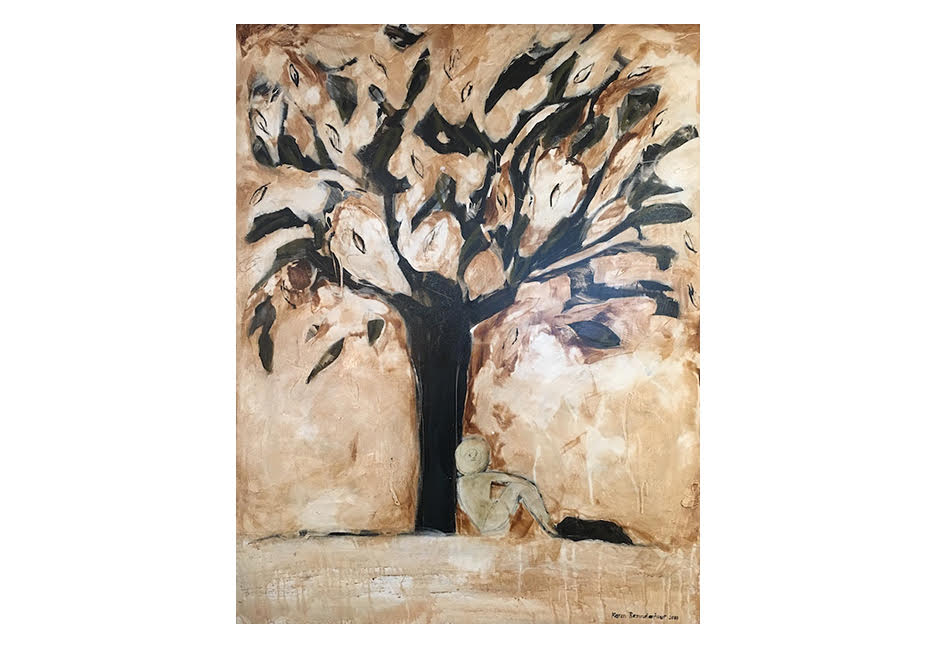 """Sitting Under the Tree of Life 48"""" x 60"""""""