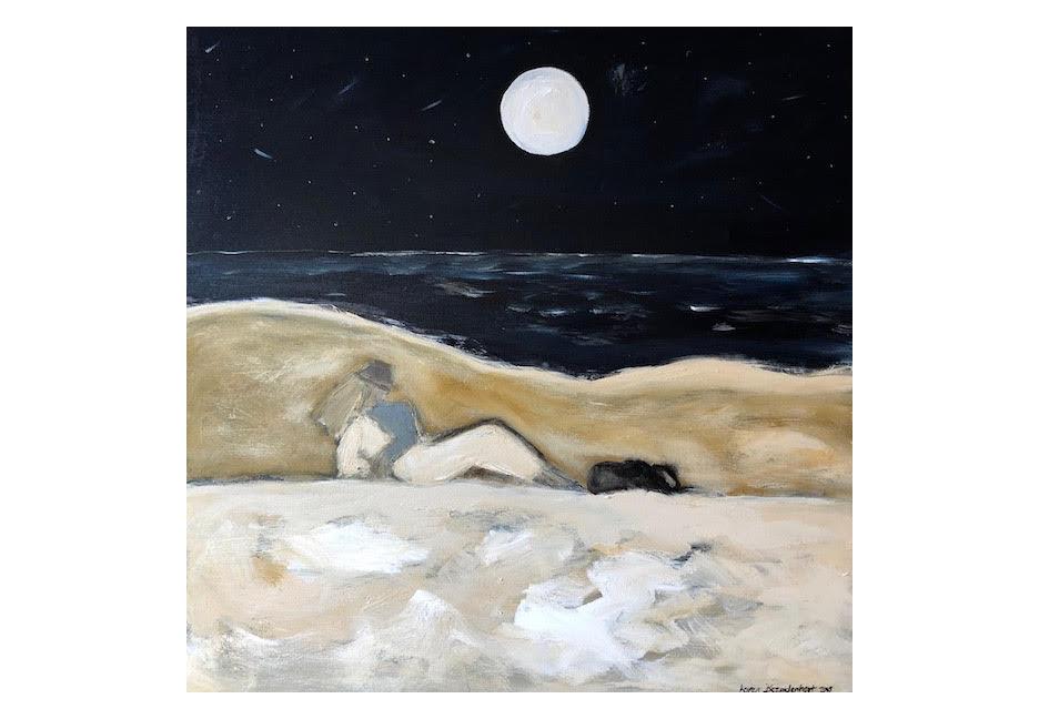 January Moon 36x36