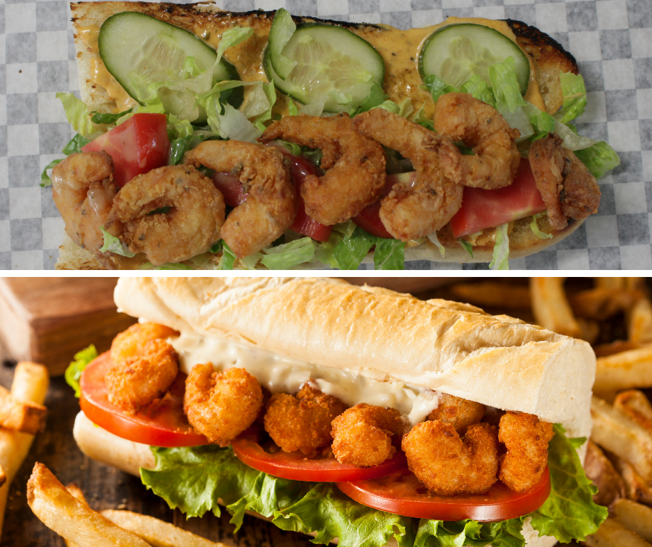 Po Boy Sandwiches - all served on Denver bread company baguetteAndouille sausagesplit sausage seared on grill, peppers and onions, cheddar cheese, Dijon BBQ sauceBBQ porkCrab cakeItalian deli style Shrimpfried shrimp, house pickled cucumbers, lettuce, tomato, red wine vinaigrette, Cajun remoulade.Smoked pork bellySmoked turkeyherb goat cheese, basil aioli, roasted red pepper relishVeggiered bell peppers, onions, pickled cucumbers, hearts of romaine, cheddar cheese, red wine vinaigrette, basil aioliSideschoose oneadditional sides available for an extra chargeGumboturkey and andouille sausage-gumbo over jasmine ricePork green chiliNew Mexico green chilis, pork, tomatillos, jasmine riceRed beans & riceslow cooked red beans, andouille sausage, jasmine riceMac and cheesehomemade four cheese sauce, Shell pasta