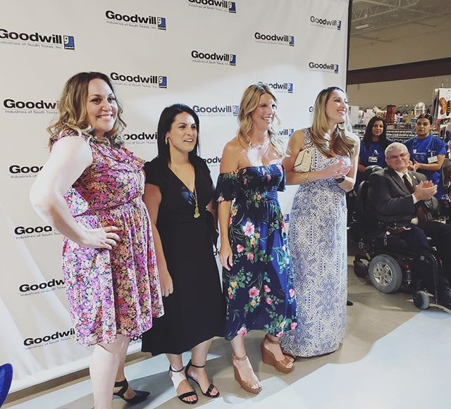 The Goodwill pre Grand Opening Party! 🎉 YBP members modeling on the runway to show off the hottest styles of the biggest Goodwill in Corpus Christi. #YBPCB #CCTX