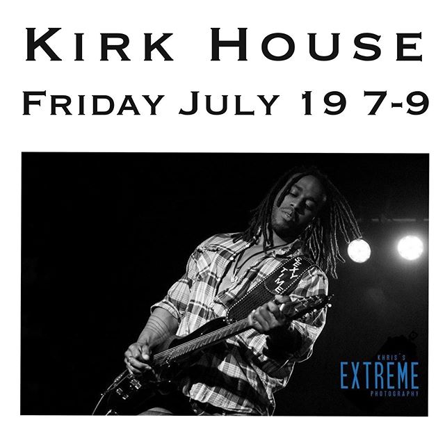 Excited to be featuring Kirk House playing at our shop on July 19, show up for a good time and great music! #abimusic #liveshow #localmusic #abilene NOTE: Limited VIP packages including personally autographed photos and reserved seating are available. Concert is free. Optional VIP Package $5 at the door.  Attendees 12 years old and up are welcome to enjoy the concert. This is not an event for small children.