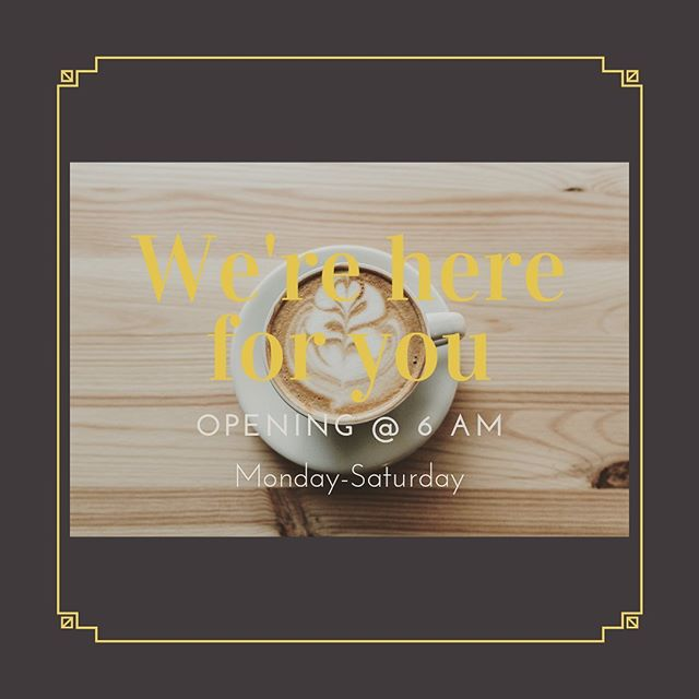 Due to popular demand we are expanding our hours, as of now we are opening at 6 am. Excited to see all of your bright and shining faces in the mornings, follow us to keep updated on any new changes or upcoming events! #abilene #coffee #abilenelocal
