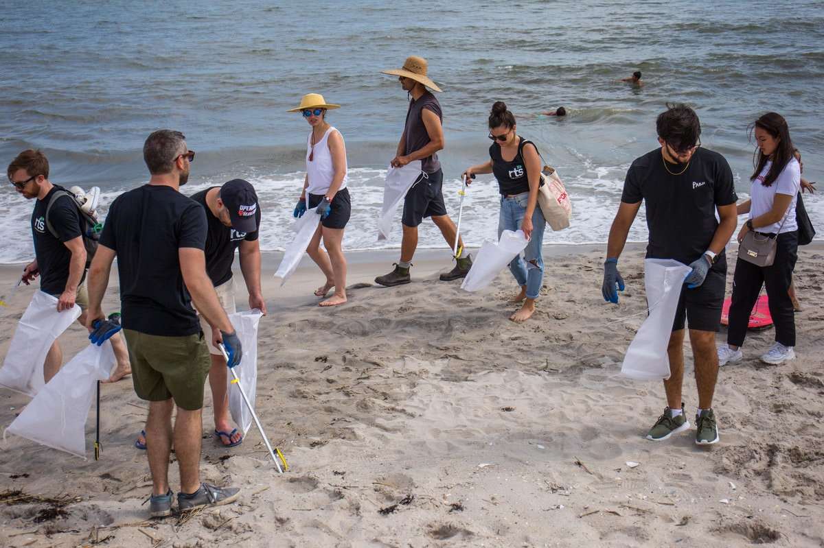 This Group Collected 1,200 Pounds Of Trash From Rockaway Beach In Two Hours