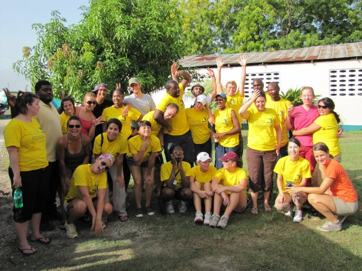 American medical students from the Colline Foundation volunteering in Haiti to help those in need from the 2010 Earthquake.
