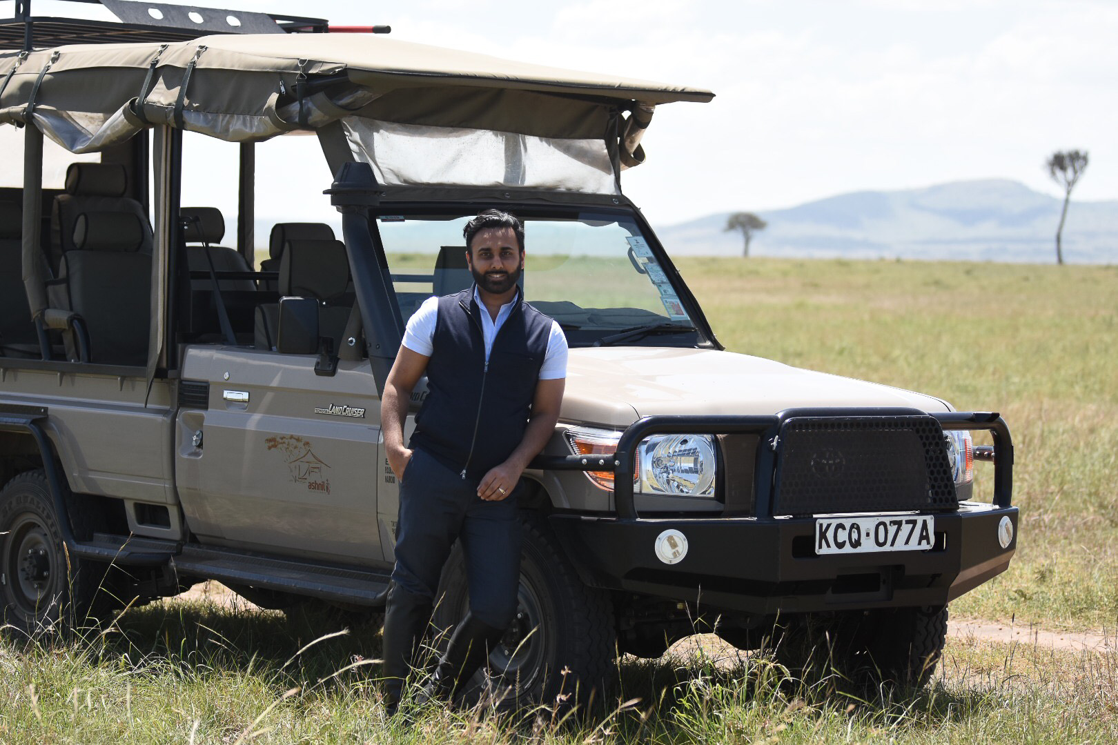 CEO Manveer Singh on an expedition to Kenya, January 2019