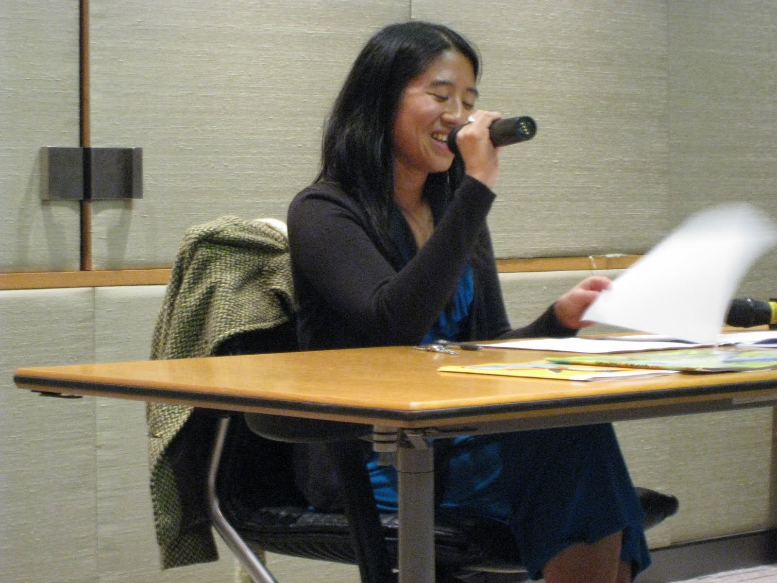 Alvina speaking at some conference or another…perhaps SCBWI.