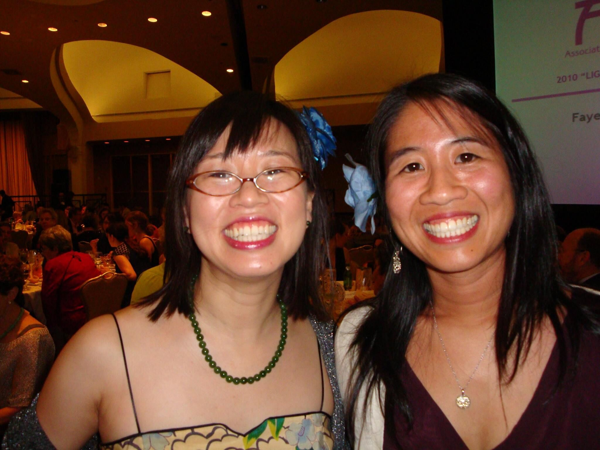 Grace and Alvina at the Newberry Awards Ceremony in 2010!
