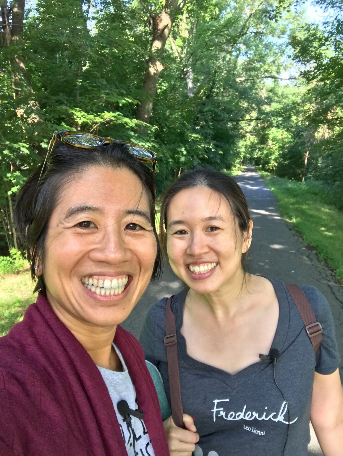 Grace and Alvina walking and talking in Northampton, MA!
