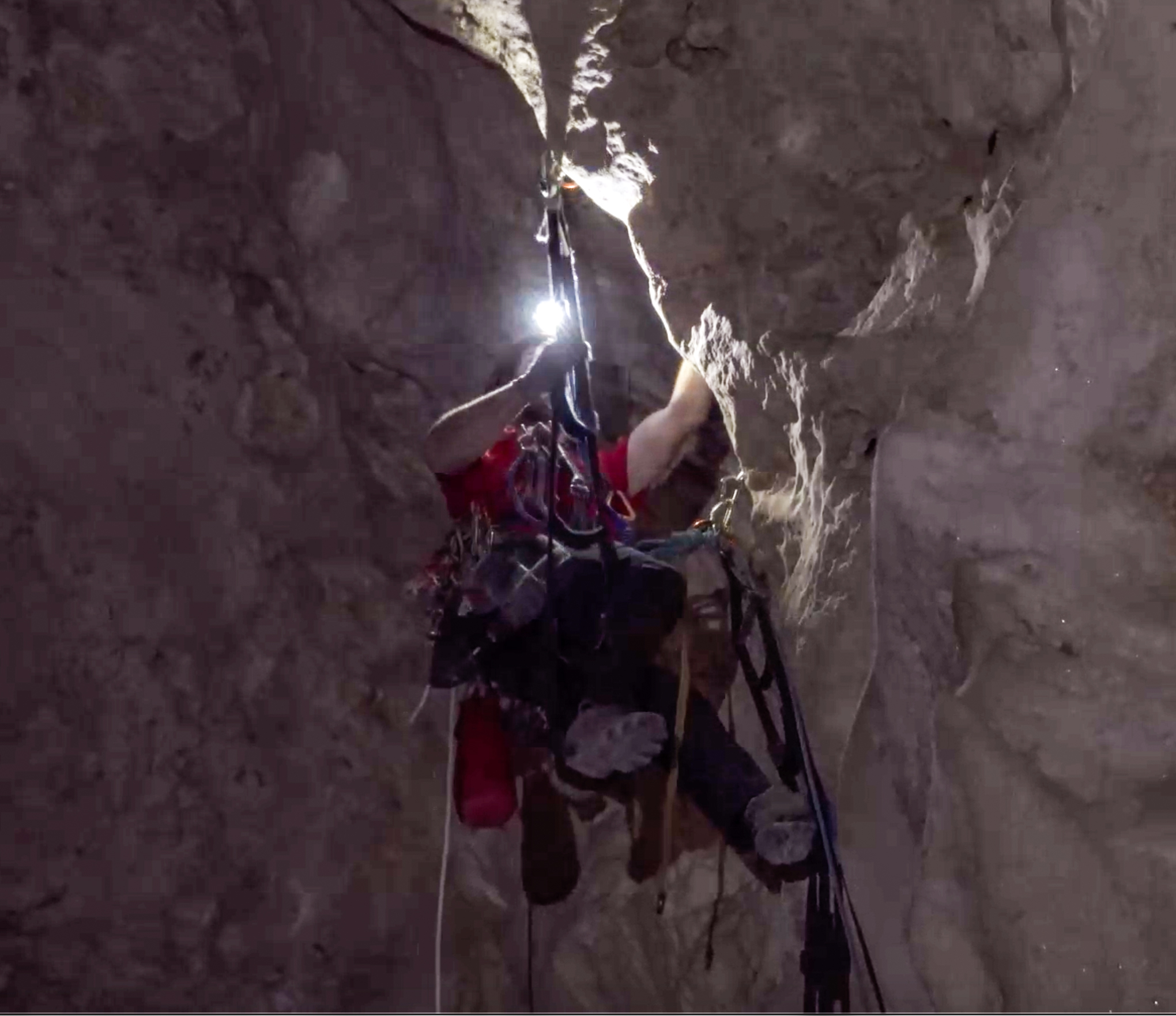 climbing - One of the greatest technical challenges in cave exploration is lead-climbing. The equipment and techniques for aid climbing underground have evolved in recent years to allow for faster, safer and lower impact ascents.