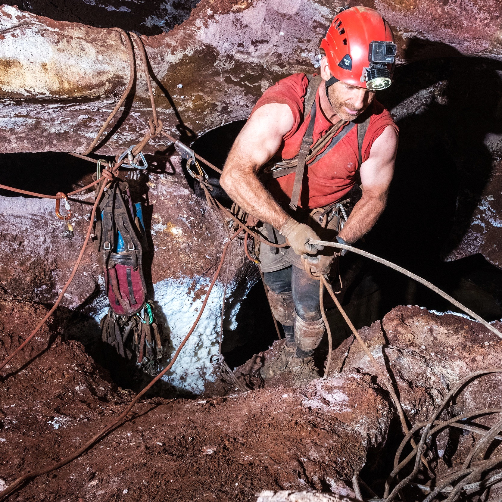 rigging - The proper use of either natural or artificial anchors to rig hand lines, vertical ropes or traverse lines requires knowledge and experience. Rigging vertical pitches underground comes with some unique challenges.