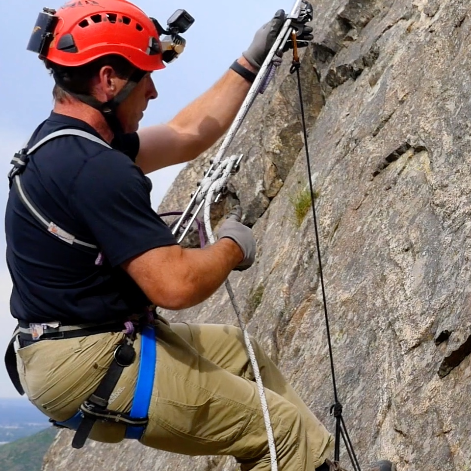 changeovers - If a changeover from ascending to descending, or rappel to climb is needed, then something has probably gone wrong, but having the skills to change direction is critical when a rope is rigged too short or a hazard is encountered.