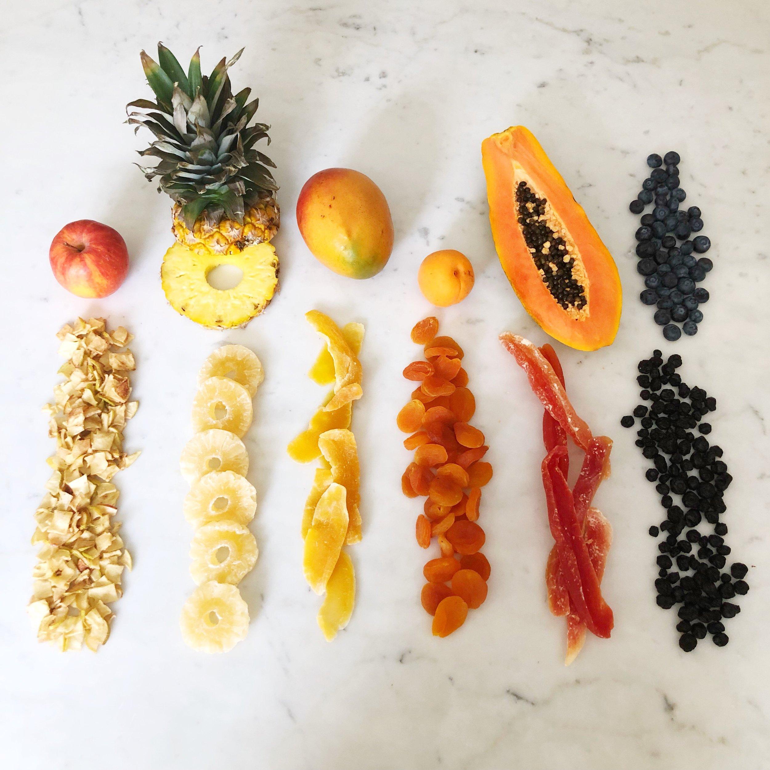 dried fruit -