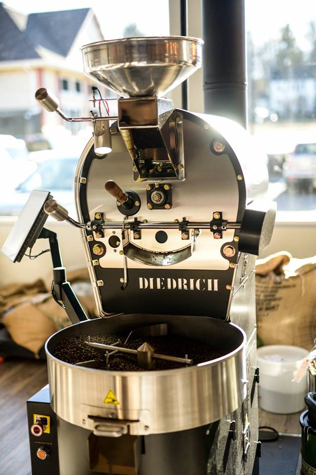 Coffee roasting right in the front of our store - Our coffee is so fresh, you can take your beans home still warm…