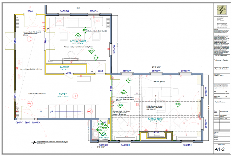 Proposed Floor Plan w/Electrical Layout