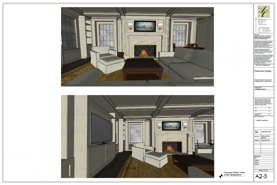 Proposed Interior View of Family Room
