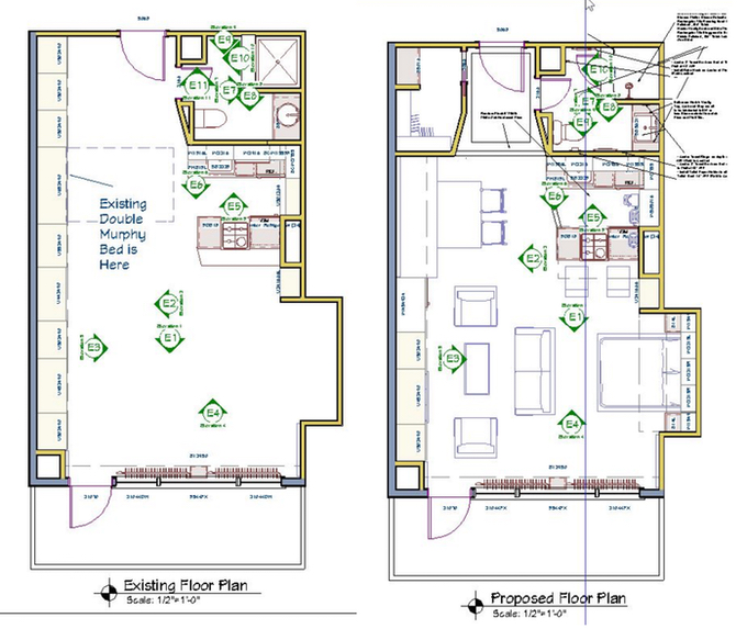 Before/After Floor Plans